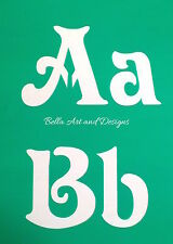 List 1  Letter and Number Stencil Sets (XLarge)  **Free gift with every order**