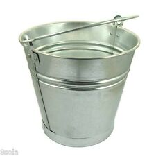 10/12/15L Heavy Duty Galvanised Steel Metal Bucket Water Coal Fire Greenhouse