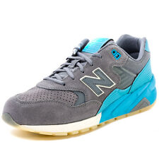 New Balance MRT580 Mens Suede Grey Blue Trainers
