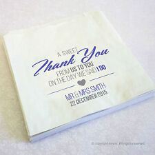 Personalised Wedding Favour Sweet Bags, Candy Cart, Buffet *FREE P&P*