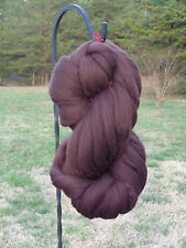 Shep's Dark Chocolate Brown Wool Top Roving - Spinning, Felting FREE SHIPPING!