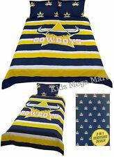 North Queensland Cowboys NRL Rugby Single Double or Queen Size Doona Quilt Cover