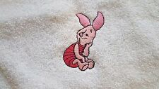 PIGLET design Embroidered onto Towels, Bath Robes, Hooded with Personalised name