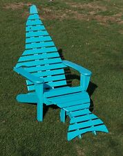 Poly Dolphin Adirondack Chair with Ottoman Premium Colors - Amish Made