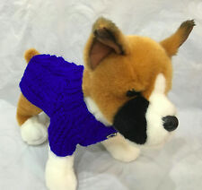 Pet Clothes for Dog Apparel Hand-Made Outfit Cable Knit Sweater Jumper XXS size