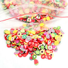 1000PCS Fimo Slice DIY Nail Art Tips Decoration Colorful Stylish Fruit Animals