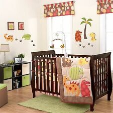 Baby Bedding Crib Cot Quilt Bumpers Sheet Music Mobile New -US Brand Dino World