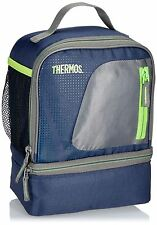 Thermos Radiance Dual Compartment Lunch Kit Navy Insulated Cool Box Bag Cooler
