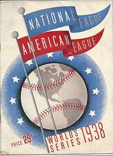 1938 World Series program Chicago Cubs New York Yankees scord Gm 1 Wrigley Field