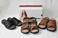 $79 Hush Puppies Men's Relief Slide Rafting Leather Sandals Shoes New