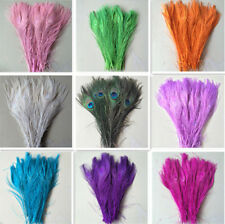 Wholesale!10-100pcs natural peacock tail feathers 10-12inches/25-30cm