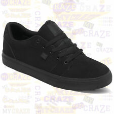 DC SHOES Mens ANVIL Skate Skater Streetwear Black Sneakers