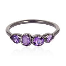 Multi Variation !! Amethyst Topaz Aquamarine Tourmaline Stackable Ring Jewelry