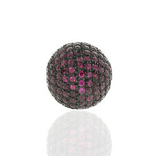 Multi Variation !! 14 MM, 20 MM, 22 MM, 24 MM Ruby Spacer Bead Pave Jewelry