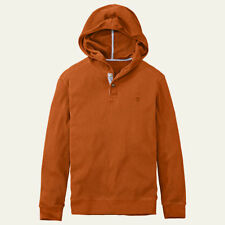 Timberland Men's Long Sleeve Wharf River Waffle Cotton Knit Orange Hoodie 8203J