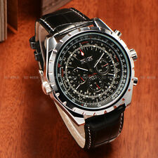 Jaragar Analogue Leather Wrist Watch Autometic Luxury Mechanical Month Day Date