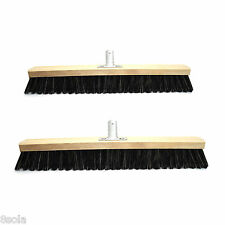 50 & 60cm Heavy Duty Broom Sweeping Brush Head Replacement Soft Natural Bristle