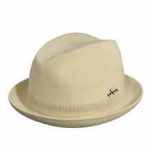 KANGOL Worsted Player Wool Trilby Fedora Natural Crushable Hat Cap K1636FA New