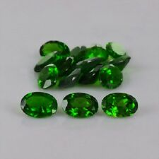 Natural Chrome Diopside 3x4mm- 6x8 Oval Cut Calibrated Size Green Color Gemstone