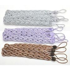Multi-Color Window Curtain Cord Rope Tiebacks Braided Tie Back Curtain Accessory