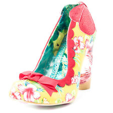 Irregular Choice Delightfully Floral Womens Fabric Red Yellow Heels