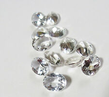 Natural White Topaz Faceted Oval Calibrated Size 4x3mm - 8x10mm Loose Gemstone