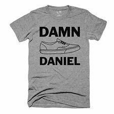 Damn Daniel Vans Shoes Gray Men's T-Shirt