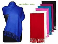 new soft Solid Plain Silk Pashmina Cashmere Scarf Shawl Wrap Stole neck warmer