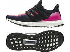 WOMENS ADIDAS ULTRA BOOST RUNNING SHOES / TRAINERS - ALL SIZES - PINK / NAVY