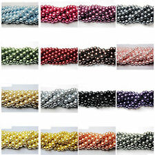 100Pcs Wholesale Top Quality Czech Glass Pearl Round Beads 4/6/8/10mm 23 Color