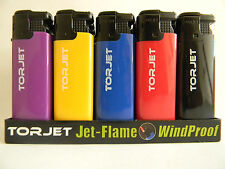 Torjet Windproof Jet Lighter Electronic Gas Superb Jet Flame Powerful Flame