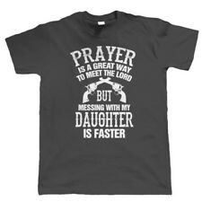 Mess With My Daughter Mens Funny T Shirt - Birthday Gift for Dad Him Fathers Day