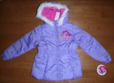 NWT Girls MY LITTLE PONY Jacket Winter Coat Hood Size 5 6 Purple Hood Pinkie Pie