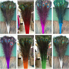 Beautiful 50-200 PCS peacock feathers eye 28-32 inches/70-80cm(15 colors)