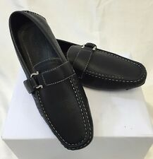 MEN GIOVANNI DRESS SHOES Loafer Casual Italian Slip-On Solid BLACK NEW HOT M9522