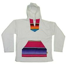 NATURAL SERAPE Baja Pullover Hoodie Shirt Mexican Surfer Poncho ANY SIZE S M XL