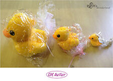 NEW Lovely Yellow Duck Animal Cuddly Plush Soft Toy Boy Girl Gift -Free Gift Bag