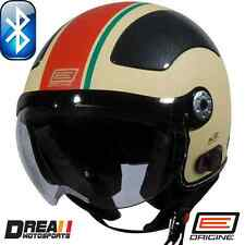 ORIGINE BLUETOOTH MATTE FLAT BLACK CREAM OPEN FACE MOTORCYCLE HELMET DOT XS - XL