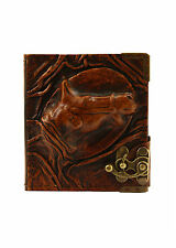 Embossed Horse Emblem Handmade Refillable Leather Journal / Diary / Notebook