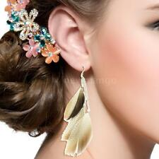 Fashion Feather Drop Dangle Earring Eardrop Ladies Cute Party Jewelry Gifts W4C3