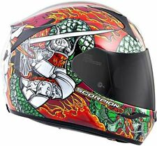 Scorpion Exo-R410 Bushido Red Blue Full Face Helmet Free Size Exchanges