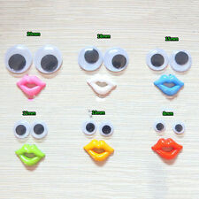 Round Mixed Wiggly Wobbly Googly Eyes For DIY Scrapbooking Crafts  fo