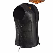 Men's Vest With 4 Buffalo Nickel Snaps Made From Leather