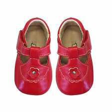 NEW Baby Girls Infant Patent Leather Shoes Perwalk Toddler Soft Soles Shoes 0 1