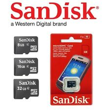 SanDisk 8GB 16GB 32GB micro SD SDHC Class 4 Genuine Retail TF Memory Card