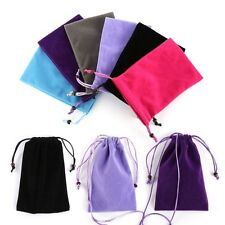 """Chic Soft Velvet Sleeve Coin Key Pouch Case Bag Cover For 5.5"""" Cell Phone Purse"""