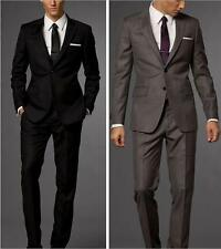Groom Tuxedo Two Button Wedding Suits for Men Bridegroom Notch Lapel Best Man