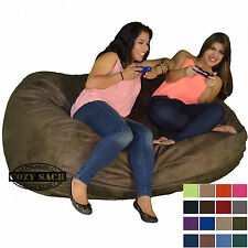 Bean Bag Chair 6' Foot Cozy Bean Bag Sack N640 Pick your Color