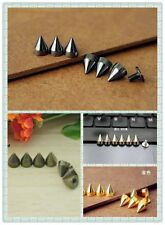 5/30/50/100/1000pcs 9mm Metal Bullet Spike Studs Rivet Spikes Leathercraft DIY