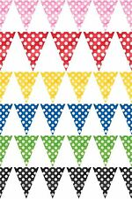 12 FT POLKA DOT BUNTING DOTS SPOTTY PARTY FLAG PENNANT BANNER ALL OCCASIONS